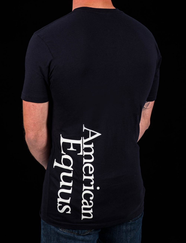 American Equus Men's T-Shirt Black- Back