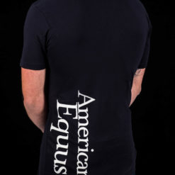 American Equus Men's T-Shirt Black- Back