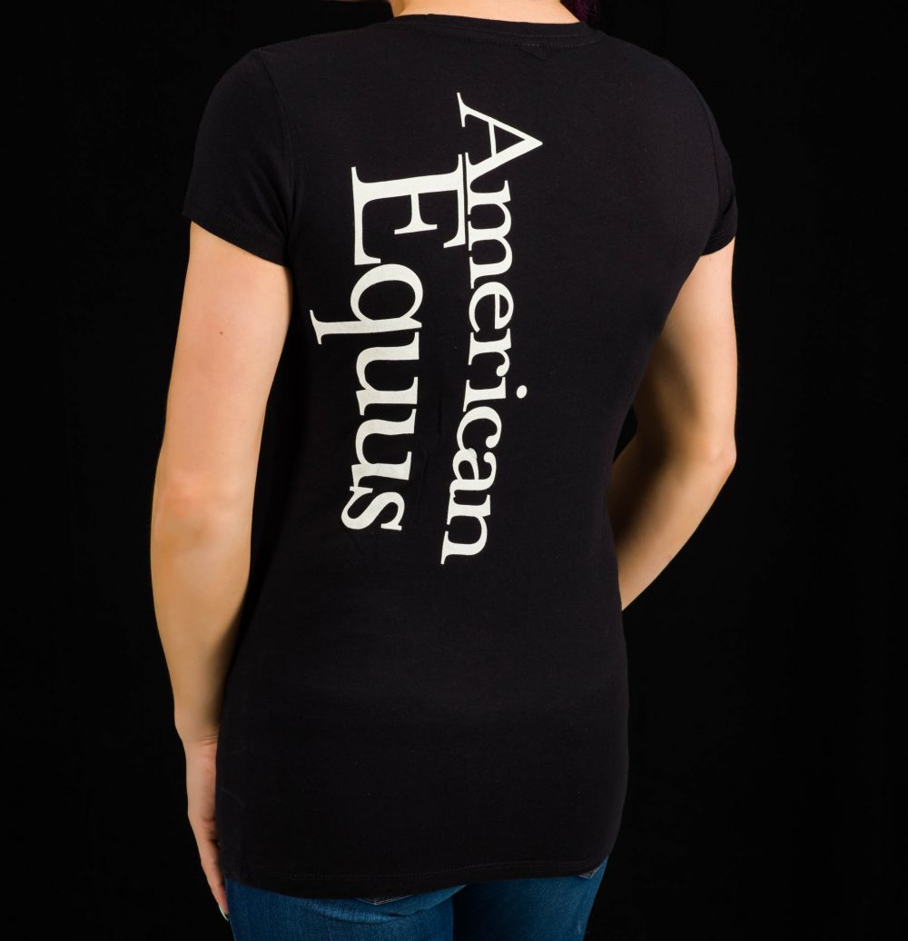 American Equus Women's V-Neck T-Shirt-Back