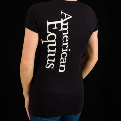 American Equus Women's V-Neck T-Shirt-Back