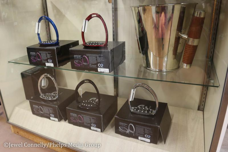 American Equus Stirrups Displayed at the Tackeria