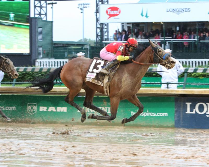 American Equus Rider Mike Smith Pilots Abel Tasman To A Come From Behind Win in 143rd Kentucky Oaks
