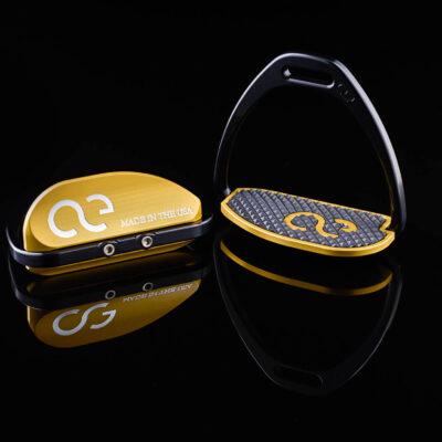 Teardrop XL Gold Thoroughbred Racing Irons