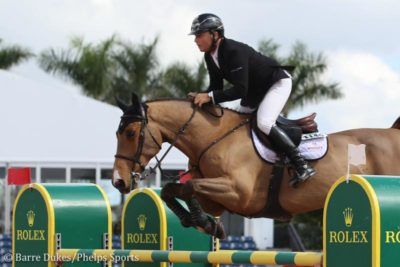 Sharn Wordley piloting Casper in American Equus Elite stirrups