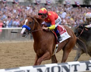Justify and Mike Smith 2018 Belmont