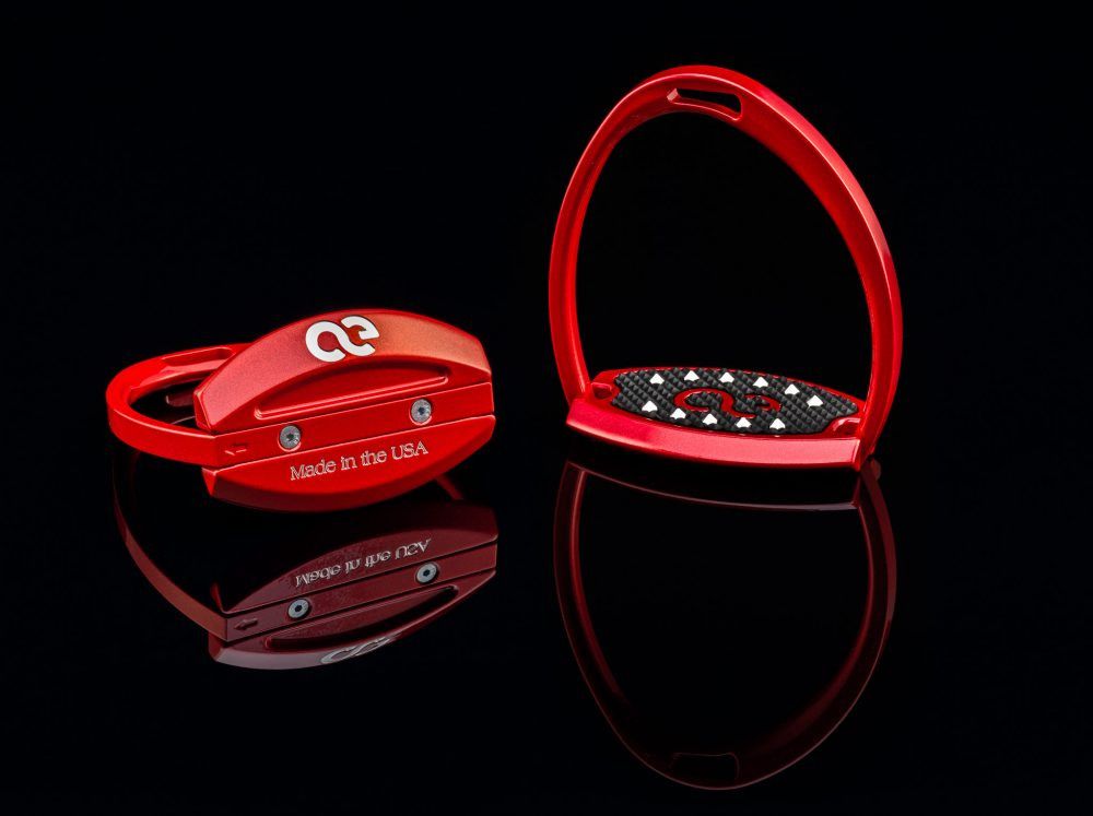 American Equus Elites Stirrups Illusion Red