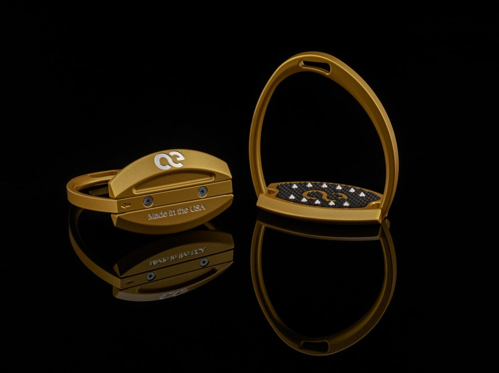 American Equus Elite Stirrups Illusion Gold