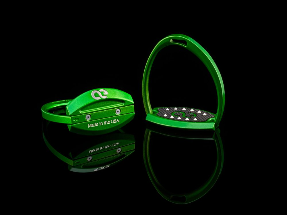 American Equus Elite Stirrups in Illusion Green