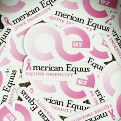 American Equus Breast Cancer Awareness Decal