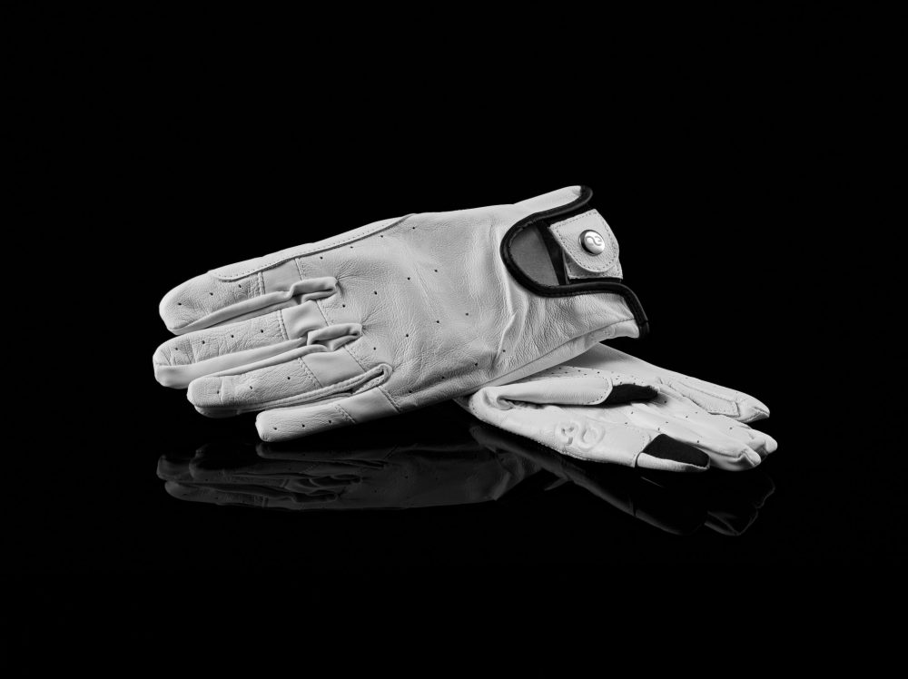 American Equus Hunter Luxe Equestrian Riding Gloves White pair