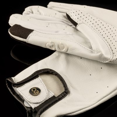 American Equus Hunter Luxe Equestrian Riding Gloves in White