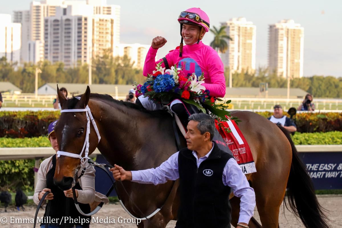 American Equus   Chosen Rider Irad Ortiz Jr. Dominates Pegasus World Cup Invitational