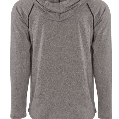 American Equus Technical Training Heather Gray Flex Hoody Back