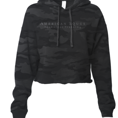 American Equus Technical Training Camo Crop Top Hoodie