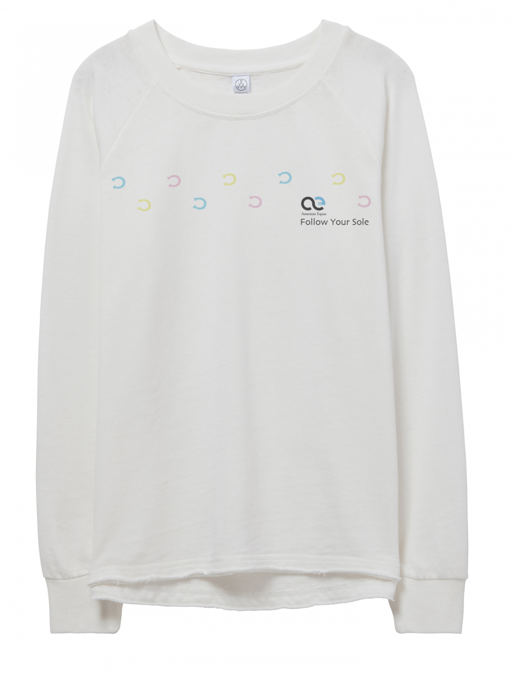 American Equus Lazy Day Sweatshirt Follow Your Sole - Ivory