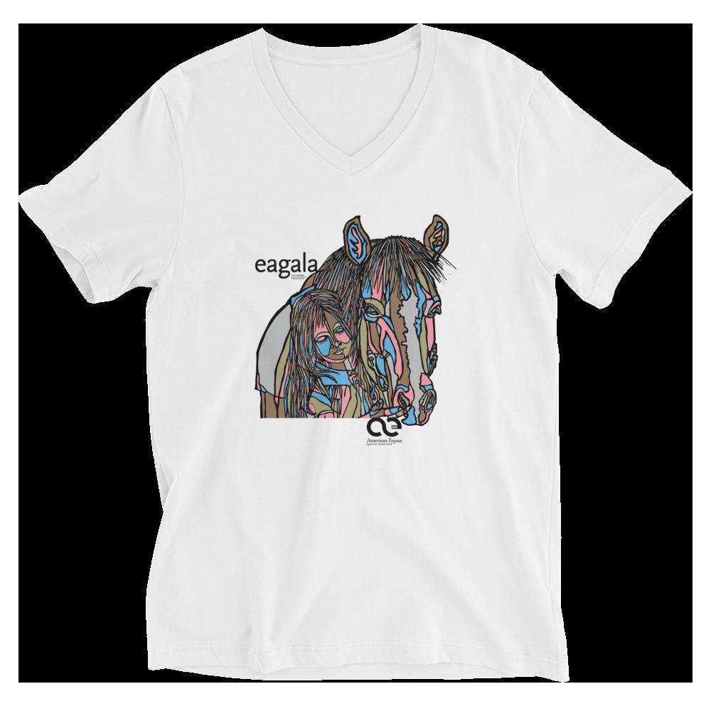 American Equus Eagala Unisex V-Neck T-Shirt