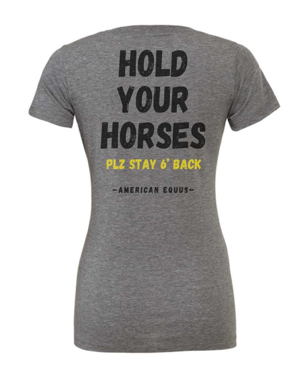 American Equus Hold Your Horses Ladies Tee Back